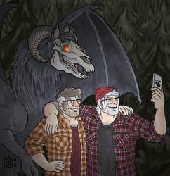 GF: Sea Grunk Selfie with the Jersey Devil by Eregyrn