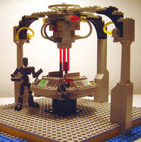 Lego Tardis Console Room by ryfter