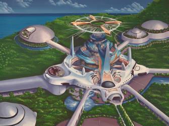 Balamb Garden University -  From Final Fantasy VII by Anna-K-AREN