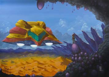 Zebes - from Super Metroid by Anna-K-AREN