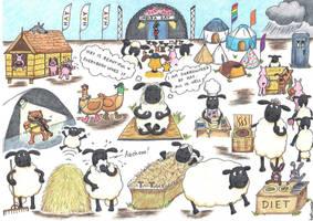 The Hay Festival (Shaun the Sheep) by artjuggler