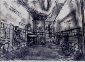 Silent Hill 2 : Bathroom by Colorwolf