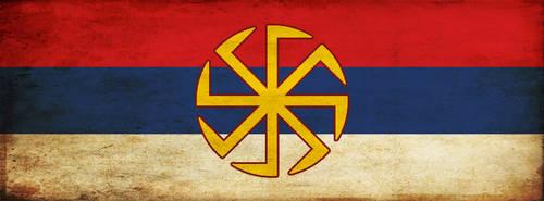 Serbian Slavic flag FB cover by mmirkovic
