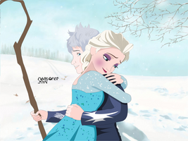 Jack x Elsa - You missed me? (Not Finish) by Mangofet