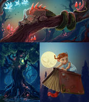 Enchanted forest by Sedeptra