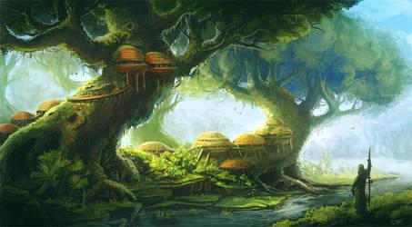 Tree dwelling by Sedeptra