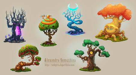 Amazing trees by Sedeptra