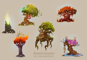 Amazing trees-2 by Sedeptra