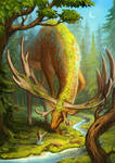 Deer god by Sedeptra