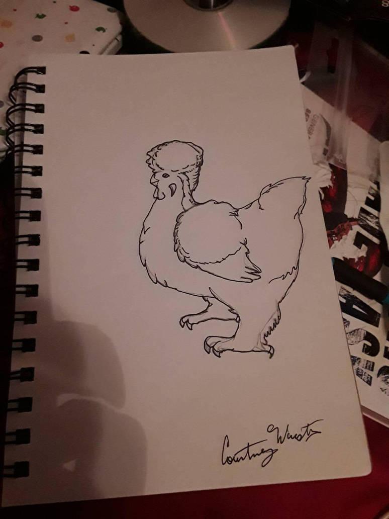 The fanciest of fancy chicken  by Tiamatshapeshifter