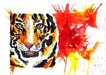Fire tiger by YukiChan89