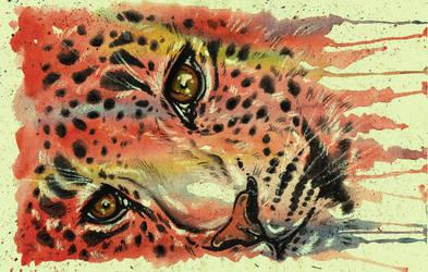 Leopard Watercolor by YukiChan89
