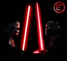 Darth Vader v. Kylo Ren by fmirza95