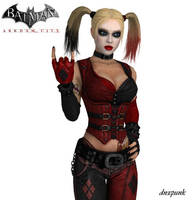 Updated Arkham City Harley Quinn Wallpaper by dnxpunk