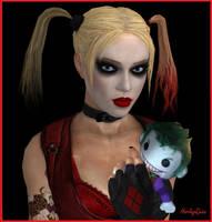 Harley Quinn's Joker Plush by dnxpunk