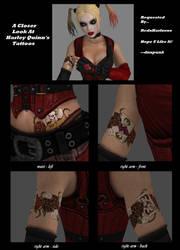 Harley Quinn's Tattoos by dnxpunk