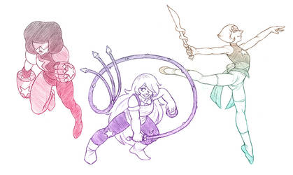 Crystal Gems - Sketch by bittersweet-Grace