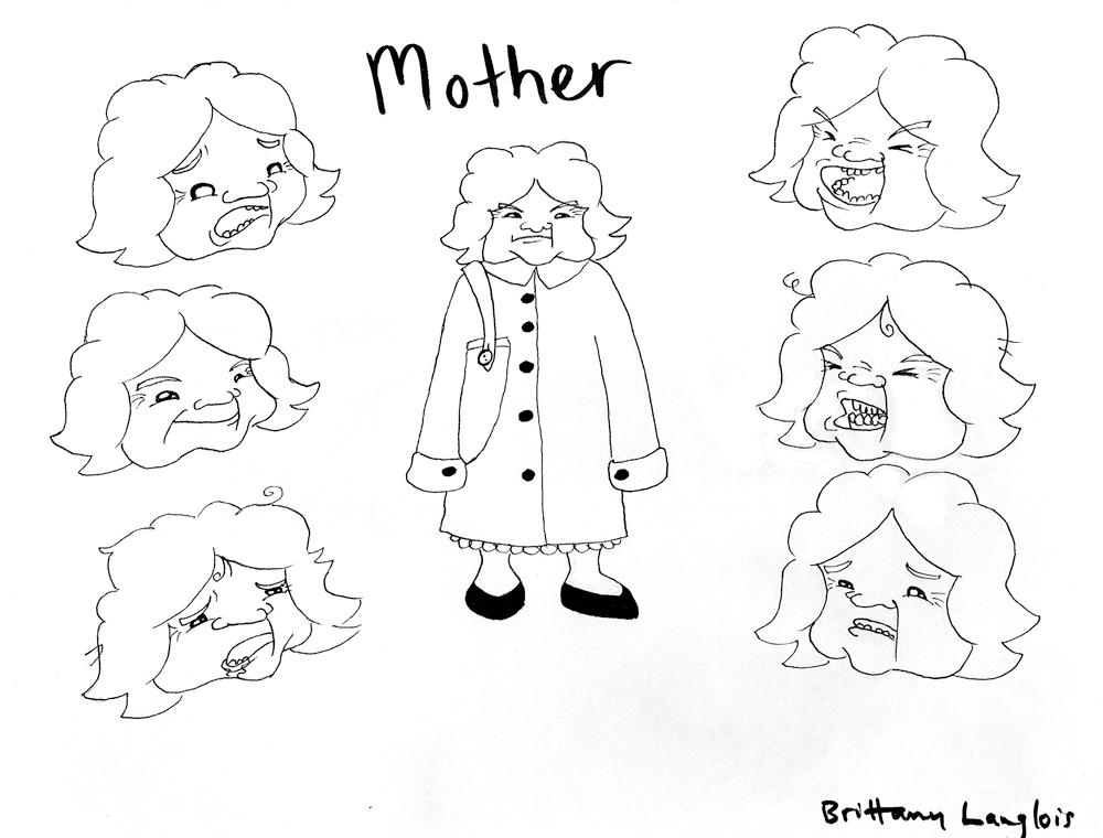 character sketch of mother
