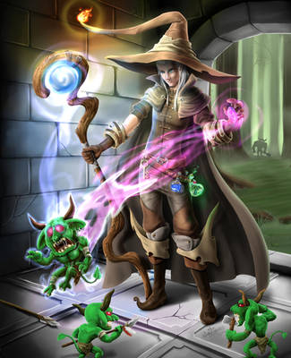 Dungeon Mage by SandroFujin