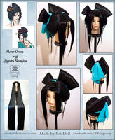 Jigoku Shoujo - Hone Onna wig commission by Rei-Doll
