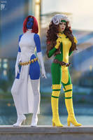 Mystique and Rogue by Rei-Doll