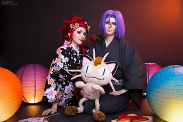 Team Rocket in Kimono by Rei-Doll