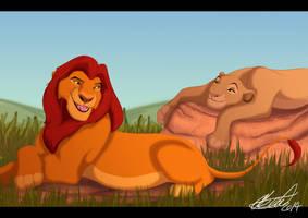 Mufasa And Sarabi Lazy by Elbel1000