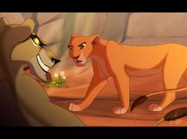 Kiara and Zira the Confrontation by Elbel1000