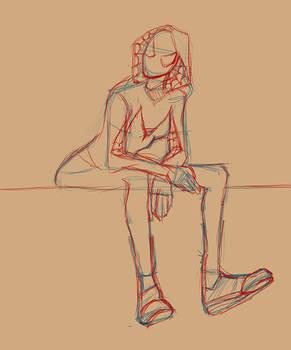 Spidey Gwen Sketch by L0ni