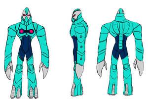 Lamar's Lusca Armor Design by WyreCats