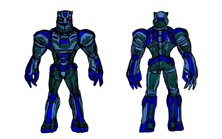 Leopard Seal Armor Concept by WyreCats