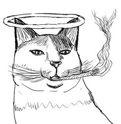 Inktober Day 3: Creationist Cat by WyreCats