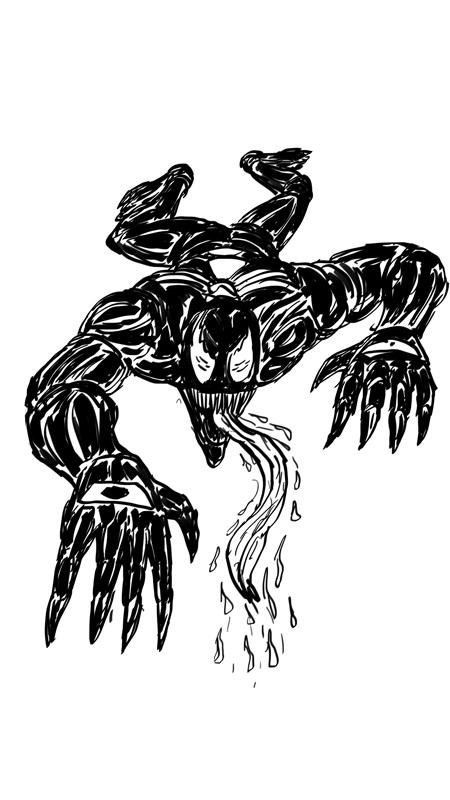 Inktober Day 6: Venom by WyreCats