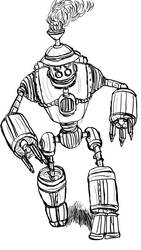 Inktober Day 21: Mechanoman from I, Mummy by WyreCats