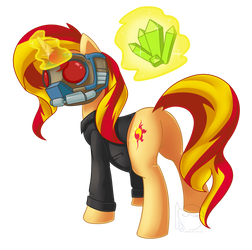 [Com] Sunset Shimmer with Mask by Puetsua