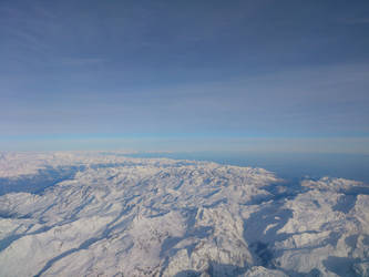 Alps from plane by realTurtleNipple