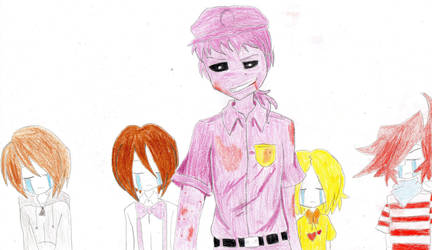 Five Night at freddys (Purple guy and Children) by Richard-the-Evil