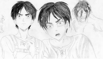 Eren Jaeger from Attack on Titan by Richard-the-Evil