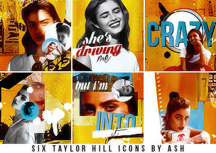 6 Taylor Hill Icons by Ash. by 1Dhazboo