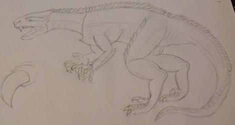 Carnosaur (sketch) by Gryphondrake7991