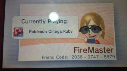 My 3DS Friend Code by FireMaster92