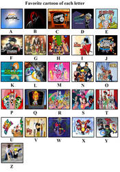 My Favorite Cartoon By Each Letter by FireMaster92