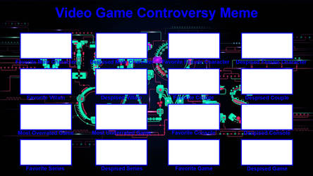 Video Game Controversy Blank Meme by FireMaster92