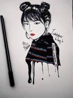 Inktober Day 1 - Red Velvet Irene by MissBrutus