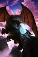 Dragon vs Knight by CrackBag