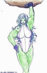 Stronggirl #3 : She-Hulk by Nelbsia