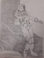 school scribles - astronaut by SteveNoble197