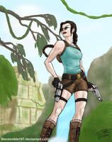 Lara Croft (v1+glasses) by SteveNoble197