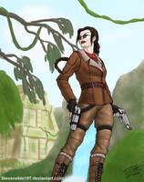 Lara Croft (v3+glasses) by SteveNoble197