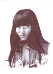 Nicki Minaj biro portrait by Craig-Stannard